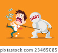 business man and debt 23465085