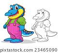 Cute crocodile cartoon mascot 23465090