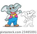 Cute elephant cartoon mascot 23465091