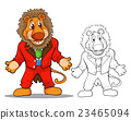 Cute lion cartoon mascot 23465094