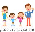 four member family posing 23465096