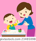 mom and kid drawing 23465098
