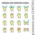 Stress flat icon 23467001