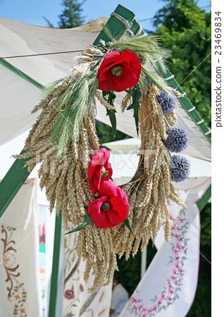 Harvest thanksgiving in Puscina,HR,garland 23469834