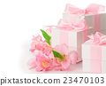 Festive composition of flowers and gifts 23470103