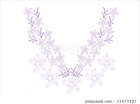 flower design for collar shirts, shirts, blouses,n 23473397