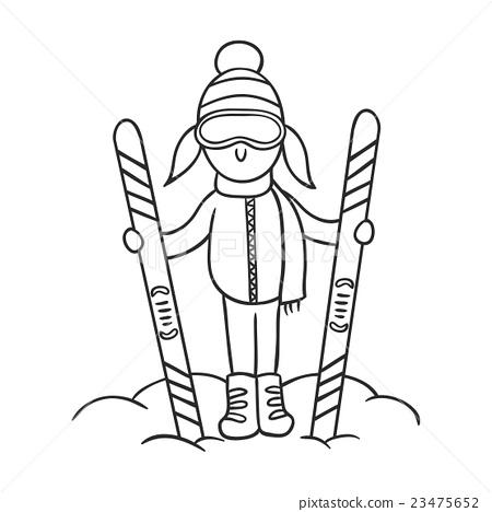 Caricature skier 23475652