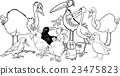 birds group coloring book 23475823