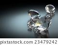 Diamond on Black Background, 3D Rendering 23479242