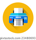 Office Printer Colorful Icon 23480693