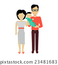 Happy Family Concept Banner Design 23481683