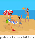 Summer Vacation on Tropical Beach Illustration 23481714