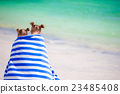 girl, towel, beach 23485408