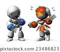 一个女人穿着和一个半信任的男人(机器人) 23486823