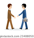 Two businessmen sign the contrac 23488050