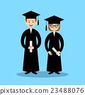 Boy and girl graduates. Vector 23488076