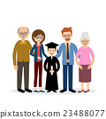 Big family with the child graduate 23488077