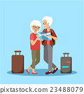 Couple of elderly people travel 23488079