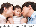 父母和小孩 睡著 小睡 23489428