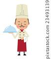 廚師的公雞與餐盤 23493139
