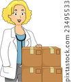 Girl Doctor Boxes Medicine 23495533