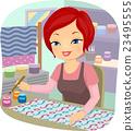Girl Textile Paint 23495555