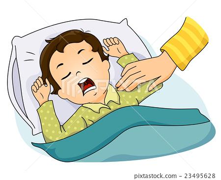 Kid Boy Sleeping Hand 23495628