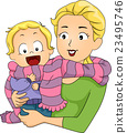 Family Mom Baby Scarf 23495746