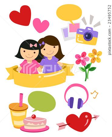 Girl Friends Design Elements 23495752