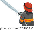 Man Fire Fighter Water Hose 23495935
