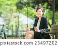 businesswoman, coffee break, coffee 23497202