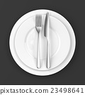 Fork and knife with plates 23498641