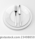 Fork and knife with plates 23498650