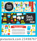back, school, set 23498767