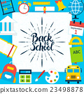 back, school, symbol 23498878