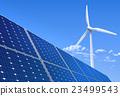 Solar panel and wind turbine 23499543