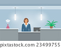 African Woman receptionist at reception desk 23499755