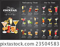 Front Drawing horisontal cocktail menu design 23504583