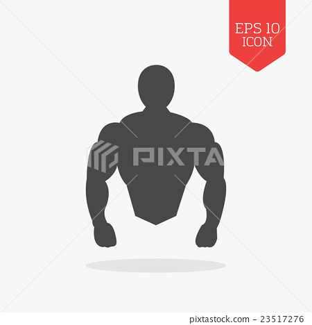 Muscle body icon. Bodybuilding concept. 23517276