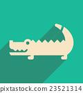flat icon with long shadow Australian crocodile 23521314