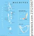 Maldives Political Map 23523007