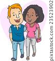 Couple Interracial Walk 23523902
