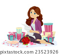 Teen Girl Read Love Letter Gifts Hearts 23523926