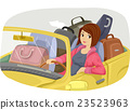 Teen Girl Traveling by Car 23523963