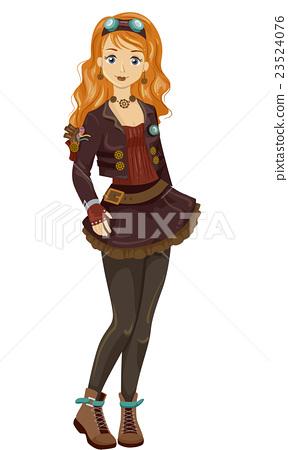 Steampunk Teen Girl 23524076