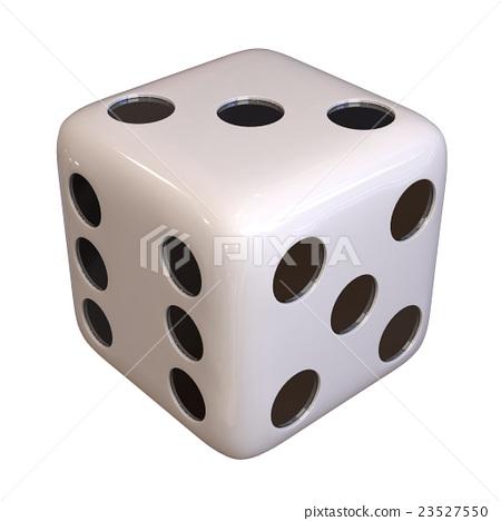 dice, baton, silver 23527550