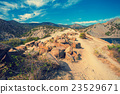 Mountain landscape in summer, dirt road 23529671