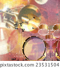 abstract grunge background with drum kit 23531504