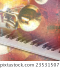 abstract grunge music background with piano 23531507