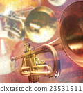 abstract grunge background with trumpet 23531511
